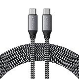 Satechi USB-C a USB-C Cable de Carga de 100W para Dispositivos USB Tipo-C – 2 Metros – Compatible con 2020/2018 iPad Pro, 2020 iPad Air, 2020/2018 MacBook Air, 2020/2019/2018 MacBook Pro (Updated)