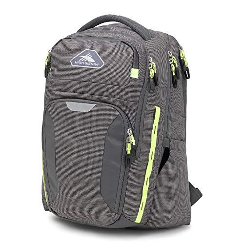 High Sierra Autry Water Resistant Backpack, Mercury/Zest, One Size