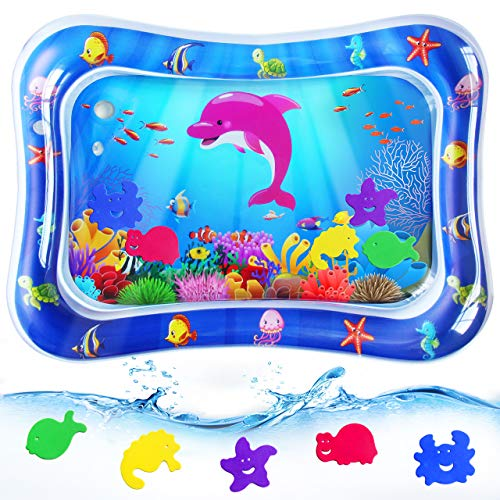 ZMLM Baby Water Mat Toy - Infant Tummy Time Inflatable Play Mat Sensory Water Playmat Pad for 3 6 9 Months Newborn Toddler Boys Girls Kids Perfect Indoor Activity Centers Fun Game Gift
