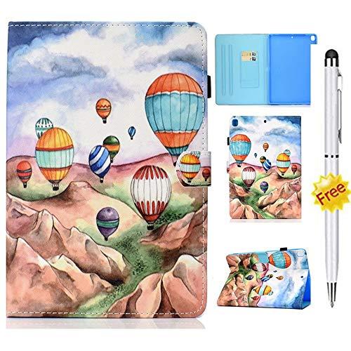 MISSDU Compatible con funda para tablet Samsung Galaxy Tab A de 9,7 pulgadas, SM-T550/P555/P550/T555) Funda con lápiz capacitivo y función atril, ranura para tarjetas y soporte para bolígrafos.