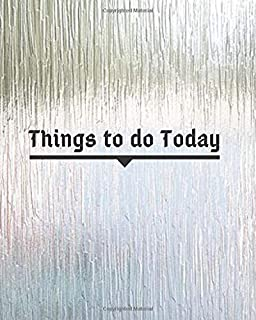 Things To Do Today: Activity planning notepad (Schedule Planner)