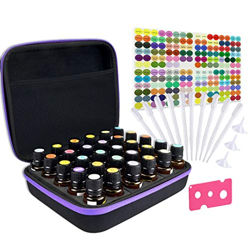 Tuzazo Hard Shell Essential Oils Carrying Case with EVA Foam Insert...