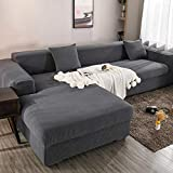X-ZBS Sofabezug L-förmiger elastischer Sofabezug mit Armlehnen eignet Sich für Sofabezüge mit Armlehnen (L-förmige Ecksofas müssen Zwei kaufen)