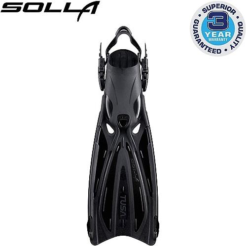 Tusa SF-22 Solla Open Heel Scuba Diving Fins - noir - petit