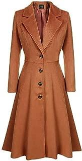 neveraway Womens Single Button Outwear Jacket Elegant British Style Windbreaker