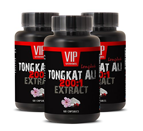 Natural Enhancement Pills for Men - TONGKAT ALI Extract 200 to 1 - Tongkat ali for Men - Natural tongkat ali - 3 Bottles 180 Capsules
