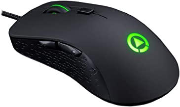 LexonElec G402 Gaming Mouse Wired [4000 DPI] [Programmable] [ RGB LED Backlight] Silent Optical Usb Ergonomic Game Computer Mice with 7 Buttons for PC, Pro Gamer (Black)