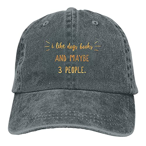Jopath I Like Dogs and Maybe 3 People Dog-3 Hat Einstellbare Baseball Cap Unisex Waschbar Cowboy Cap Dad Hat Gr. One Size, DeepHeather