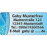 Adressaufkleber - Adressetiketten - Namensetiketten Farben1-210 Stück 54 x 25