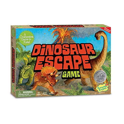Peaceable Kingdom Dinosaur Escape Award Winning Cooperative Game for Logic and Luck for Kids
