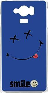 AQUOS SERIE mini (SHV31) スマホケース ハードケース [ペケスマイル・ブルー] ばってんすまいる ニコちゃん smile アクオス セリエ ミニ スマホカバー 携帯ケース [FFANY] batusmile h190945