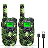 Kids Walkie Talkies, 22 Channels Kids Walkie Talkies, 4-Mile Range Toy Walkie Talkies with Flashlight and LCD Screen, Great Xmas Gifts Toys for 3-12 Year Old Boys and Girls