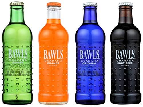 8 Pack - Bawls Guarana - Variety Pack - Original, Orange, Ginger, Root Beer- 10oz. + Energy Drink Outlet Sticker
