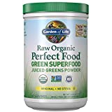Garden of Life Raw Organic Perfect Food Green Superfood Juiced Greens Powder Original Stevi Free, Non-GMO, Gluten Free, Dietary Supplement, 60 Servings, 14.6 oz
