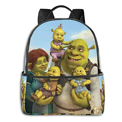 zhengdong Shrek Cartoon Bapa Unisexs Student Bag Classic Lightweight Zipper Bapas