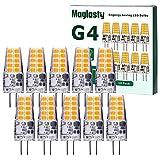 G4 LED Bombillas, AC/DC 12V, 3W Equivalente a Lámparas Halógenas de 30W, Blanco Cálido 3000K, Sin Parpadeo, No Regulable, Ángulo de haz de 360°, Paquete de 10 [Clase de eficiencia energética A+]