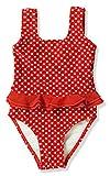 Playshoes Mädchen Badeanzug UV-Schutz Punkte, Rot (8 rot), 98/104