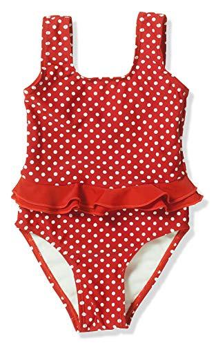 Playshoes Mädchen Badeanzug UV-Schutz Punkte, Rot (8 rot), 86/92