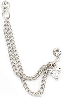 Best cartilage chain earring double piercing Reviews