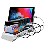 USB Charging Station for Multiple Devices Products Apple iPhone Charging Station 6Port 10.2A Fast Charging Dock for Apple iPhone Android Cell Phones IPad Tablets Samsung Galaxy Note USB Fast Charger