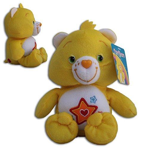 Superstar Bärchi 34/42cm Super Weich Bär Die Glücksbärchis Care Bears Gelb Stern Bär Teddybär Plüschtier
