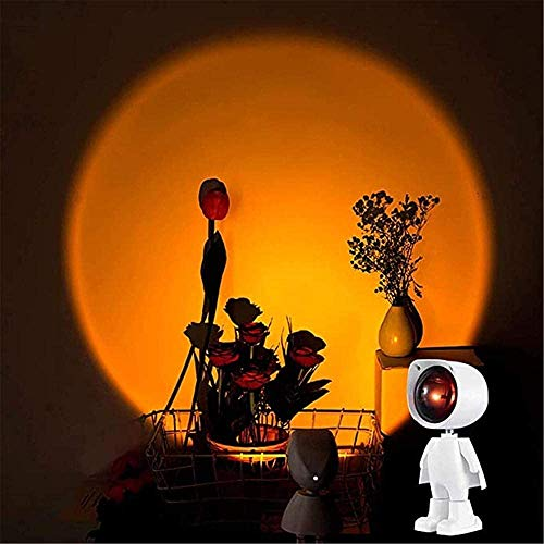 Proyector de luz nocturna Lámpara LED de puesta de sol Figura ajustable para sala de estar, dormitorio, proyector romántico regalo (color : puesta del sol)
