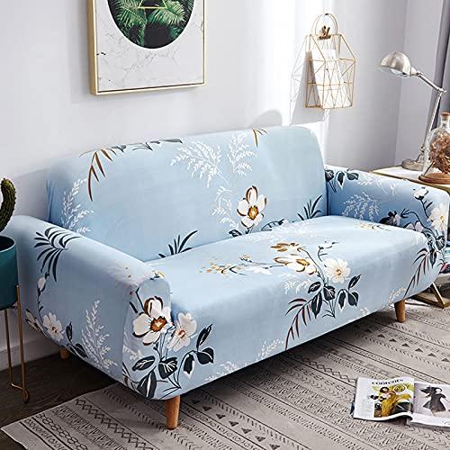 MKQB Funda de sofá a Rayas para Sala de Estar, Funda de sofá elástica y Antideslizante, Funda de sofá para Mascotas Todo Incluido Antideslizante, Lavable NO.1 S (90-140cm