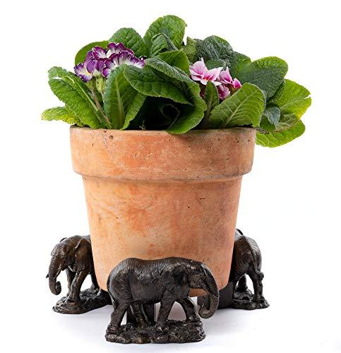 Potty Feet Elephant Figures Plant Pot Feet - Planter Support - Handmade Decorative Ornaments - 3pcs