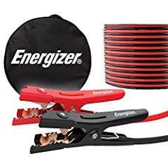 ENERGIZER 16 FEET JUMPER CABLES - 6 Gauge, 16 FT booster battery jumper cables for jump starting a dead or weak battery. Ideal for trucks, SUVs, full-size cars, mid-size cars and small/compact cars THICK VINYL COATING - Includes a strong spring and a...