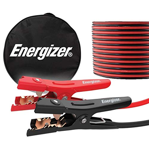 Energizer Jumper Cables, 16 Feet, 6 Gauge, Heavy Duty Booster Jump Start Cable, Carrying Bag Included - UL Listed