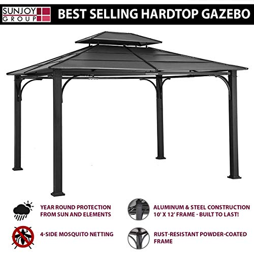 Outsunny 10' x 13' Aluminum Frame Soft Top Outdoor Patio Gazebo with Polyester Curtains and Air Venting Screens, Cream White