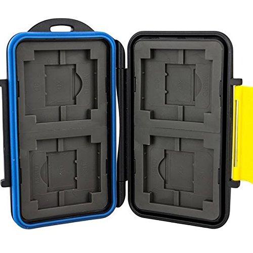 JJC multi custodia contenitore impermeabile in plastica rigida per schede: CF SD SDHC XD MemoryStick Pro Duo Card-Safe CompactFlash - Multi Card Case Safe