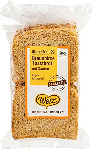 Werz Braunhirse Toastbrot mit Saaten bio 250g