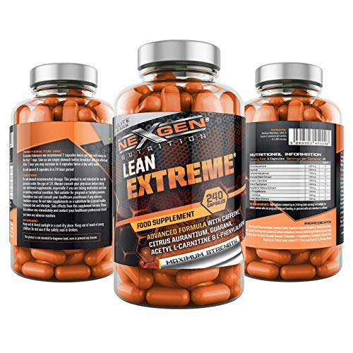 T5 Lean Extreme - Max Strength Thermogenic Weight Management for Men & Women, Weight Management Formula, Premium Grade UK Made, Vegan, 240 Capsules