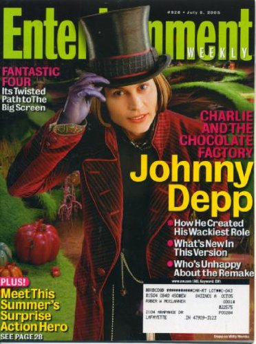 Entertainment Weekly July 8, 2005 Johnny Depp in Charlie and the Chocolate Factory, Fantastic Four, Kyra Sedgwick in The Closer, Stephen King, Monk