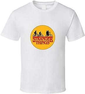 Stranger Things - Camiseta con logotipo de la serie de televisión de moda, color blanco