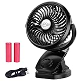 Bluboon Rechargeable Battery Operated Clip on Fan