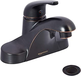 AmazonBasics AB-BF605-OR Basin Faucet-4-Inch, Oil-Rubbed Bronze