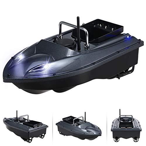 Barco de cebo , Smart RC Bait Boat Dual Motor Fish Fish Finder Boat Boat Control remoto 500m Barcos de pesca Herramienta de pesca de lancha de velocidad, Negro , Arrastre de pesca con control remoto.