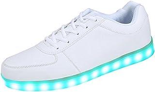 Aimee-Store 7 Farbe USB Aufladen LED Leuchtend Sport Schuhe Sportschuhe Sneaker Turnschuhe für Unisex-Erwachsene Herren Da...