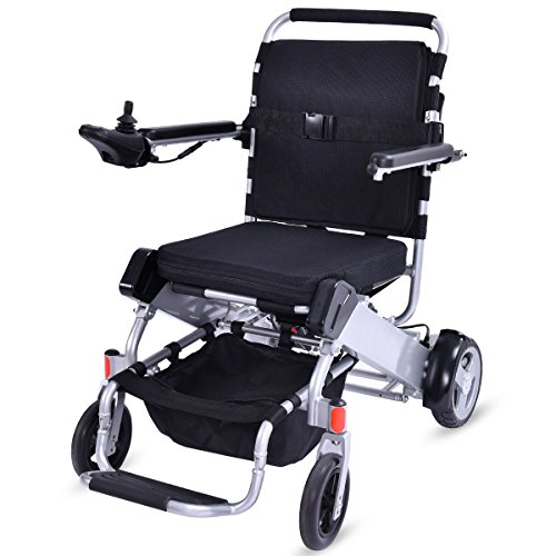 Best Price! Giantex Lightweight 55 lbs only Heavy Duty Supports 330 lbs Aluminum Foldable Wheelchair...