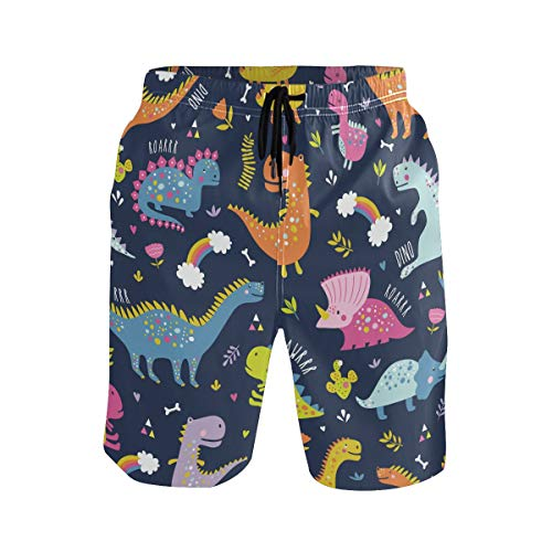 Sensee - Bañador de dinosaurio para hombre, secado rápido, pantalones cortos de...