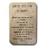 Generico Tagliere da Cucina in Legno Naturale 100% Made in Italy Idea Regalo Festa della Mamma con Ricetta incisa Accessorio indispensabile per Cucina (Modello 2)