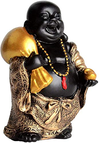 Buddha Statue Laughing Figurine Fengshui Home Decor for Lucky Buddhist Statues Gold for Gifts
