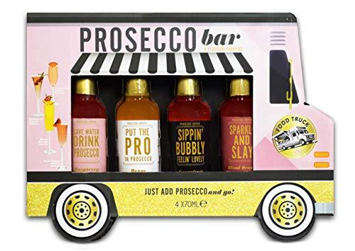 Modern Gourmet Foods Prosecco Cocktail Toppers Geschenkset - 4 leckere Geschmacksrichtungen im Cocktail Truck - 4x70 ml