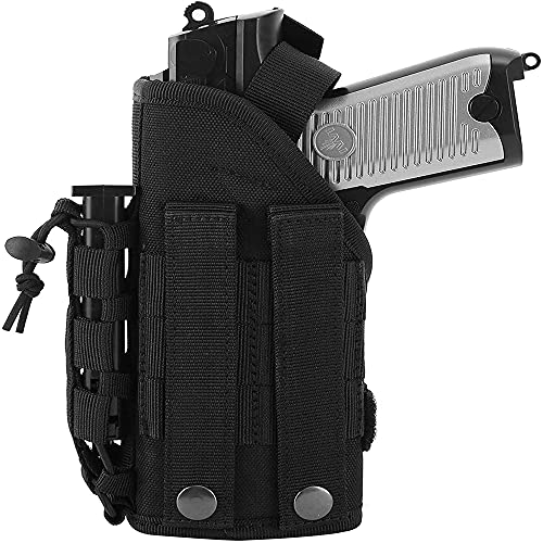 ACEXIER Tactical Gun Holster Airsoft Pistols Holder con mag Pouch Molle Belt Pistolera de Pistola para Pistola Glock Accesorios de Pistola de Caza