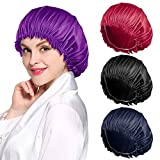 ROYBENS 4PCS Satin Bonnet for Women Natural Curly Hair,D