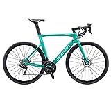 SAVADECK Freni a Disco Bici da Strada 700C Bici da Corsa in Carbonio Bicicletta in Fibra d...