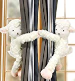 IFEVER 1 par de Abrazaderas para Cortinas, diseño de ovejas Blancas con diseño de ovejas y ovejas...