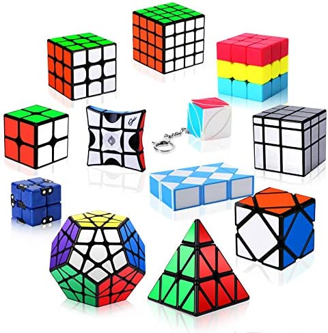 Vdealen Speed Cube Set 12 Pack Puzzle Cube Bundle 2x2 3x3 4x4 Pyramid Megaminx Skewb Mirror product image